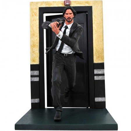 Estátua John Wick (Running): John Wick (De Volta Ao Jogo) – Diamond Select