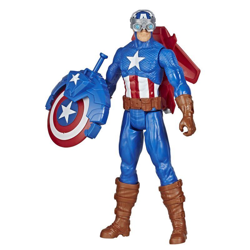 Figura Articulada – 30 Cm – Titan Heroes – Disney – Marvel – Avengers – Capitão América – Blast Gear – Hasbro –  E7374